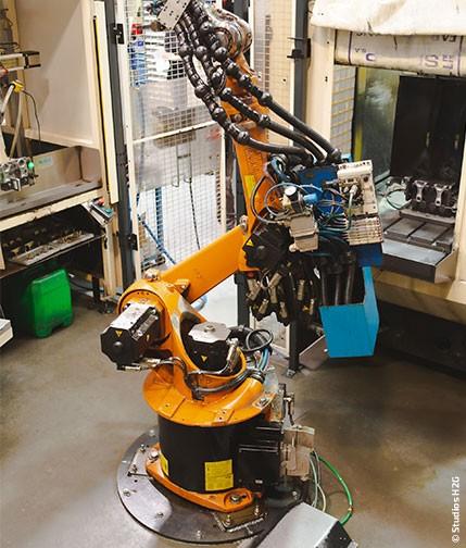 réalisation avec le robots de MH Indistries